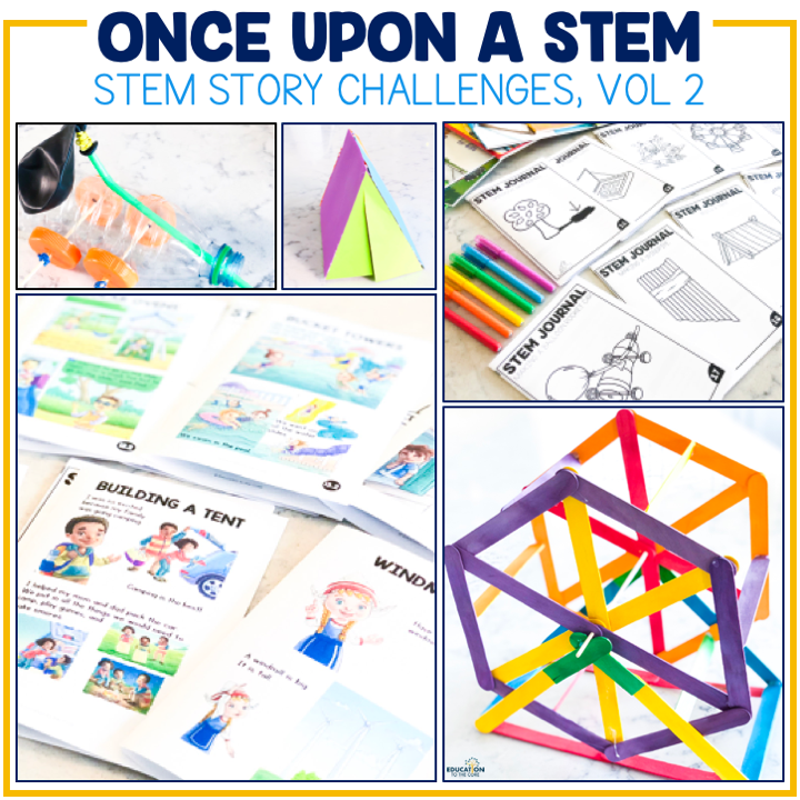 photos of STEM challenges your child can do as a home activity