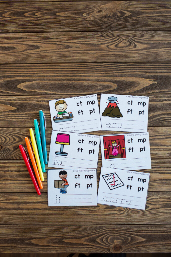 Beginning and Ending Blends - Phonics Activities for Students