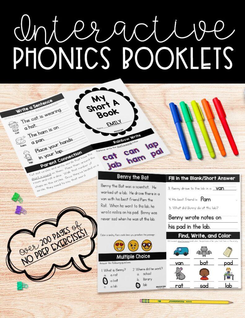 NO PREP Interactive Phonics Booklets