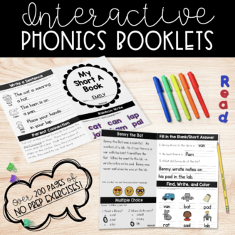 NO PREP Phonics Booklets