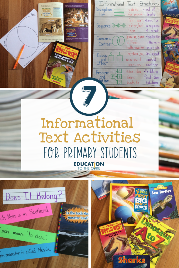 7 Informational Text Activities for Primary Students