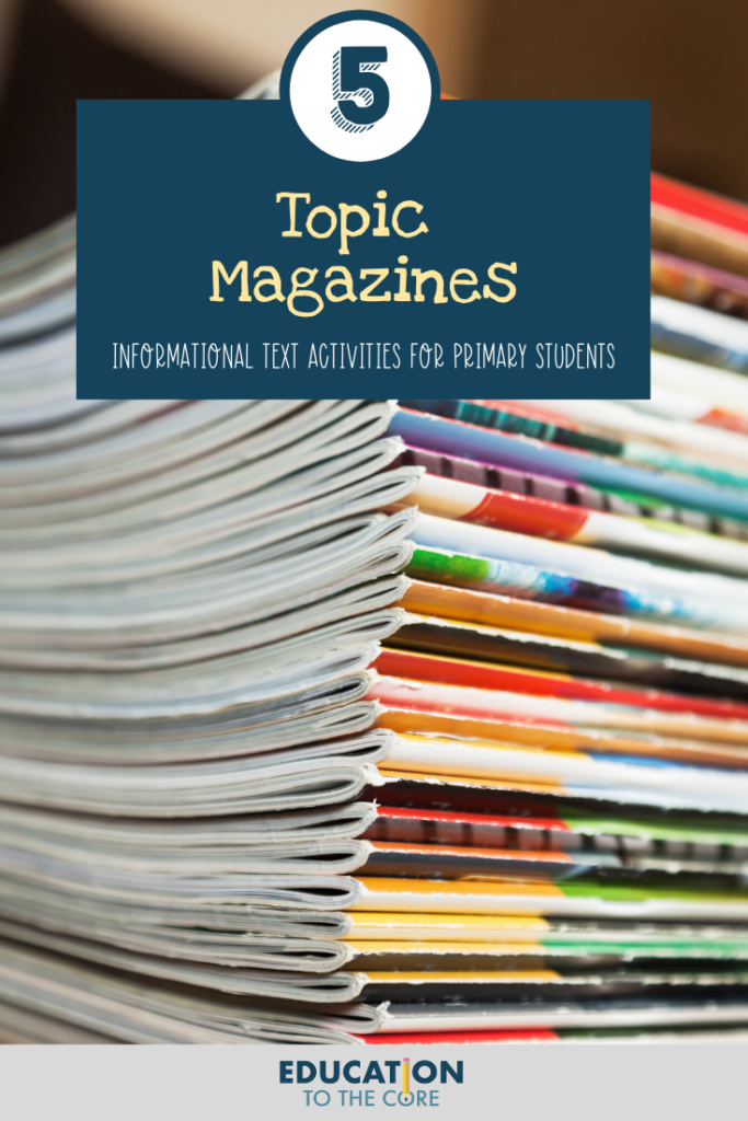 Topic Magazines - Informational Text Activity