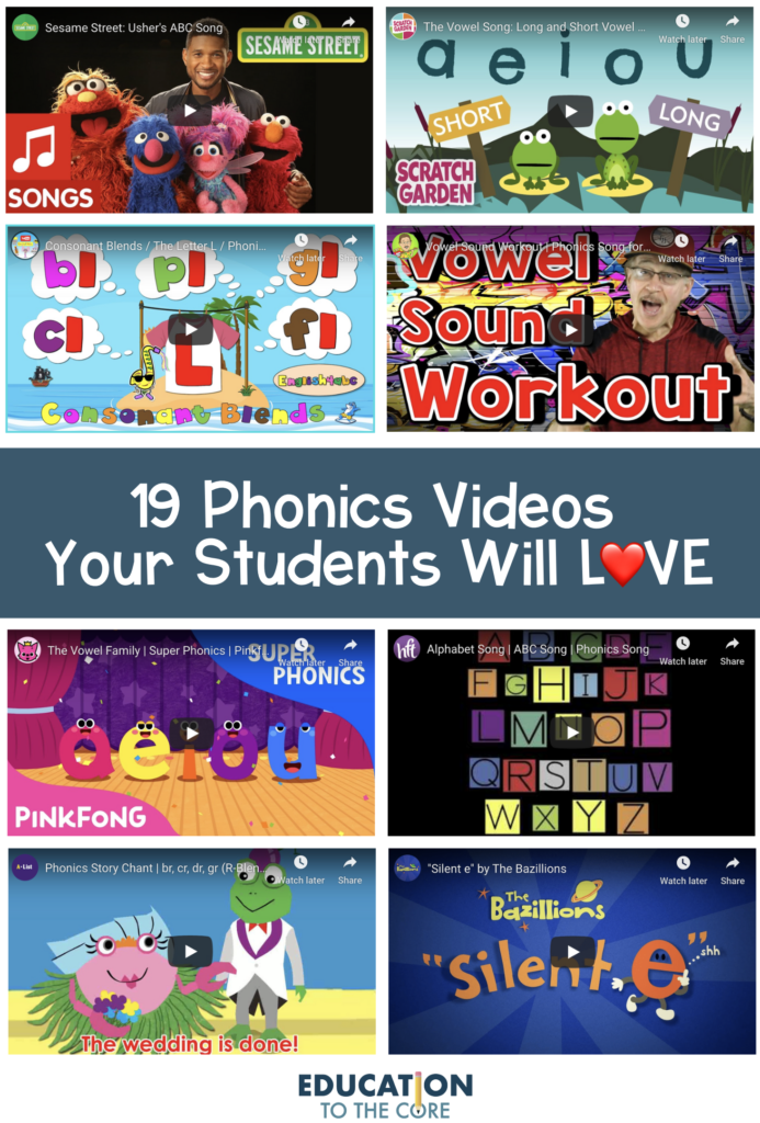 Compilation of Fun and Exciting Phonics Videos for your Primary Students