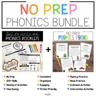 No Prep Phonics Bundle