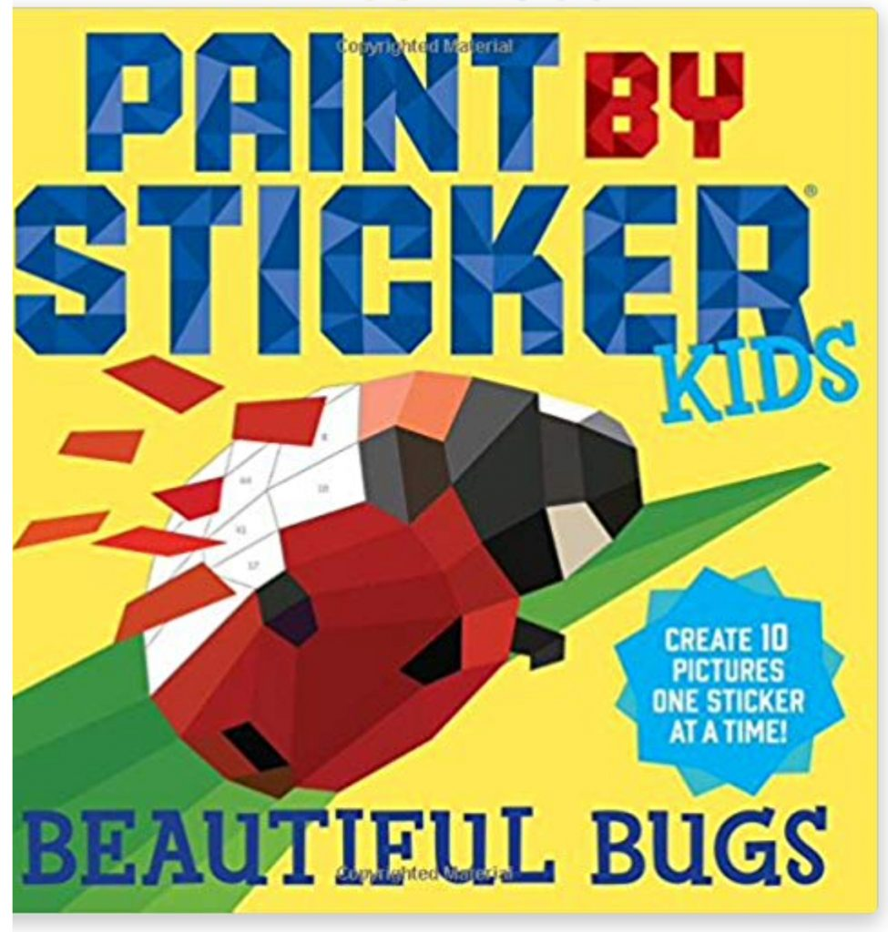 Paint by Sticker ladybug book; match the stickers to their given numbers to create pictures