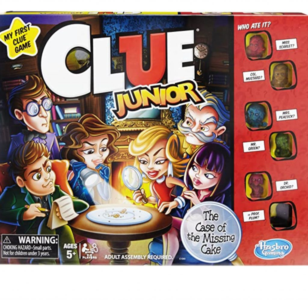 Clue Junior board game box