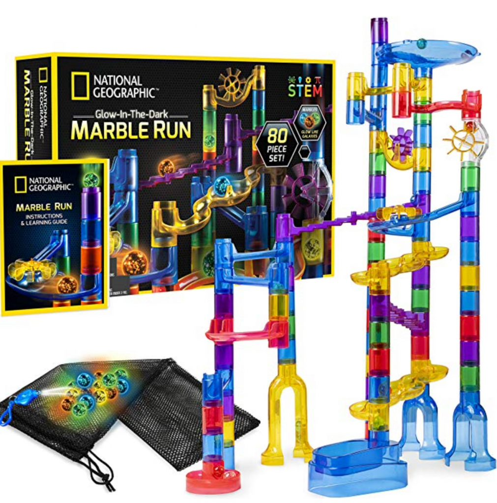 entertain the kids with a glow in the dark marble run tower