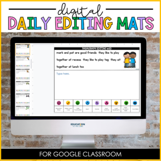 Digital Daily Editing Mats for Google Classroom™/Slides™