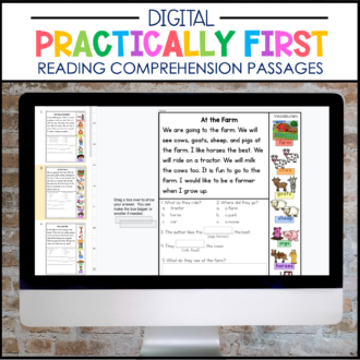 DIGITAL Practically 1st Grade Reading Passages for Google Classroom™/Slides™