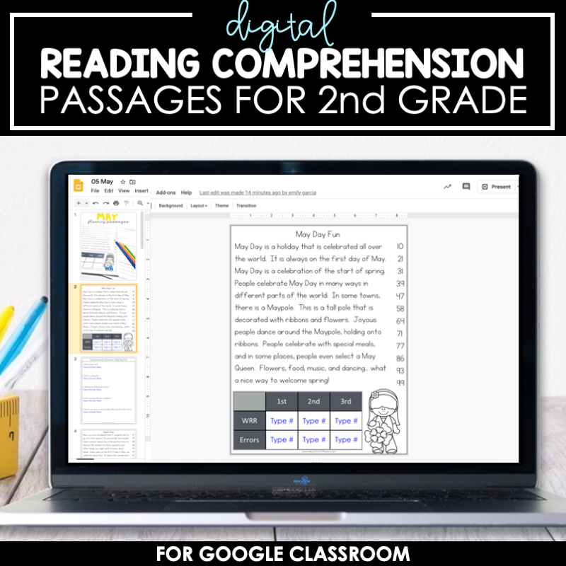 DIGITAL 2nd Grade Reading Comprehension Passages For Google  Classroom™/Slides™ Education To The Core