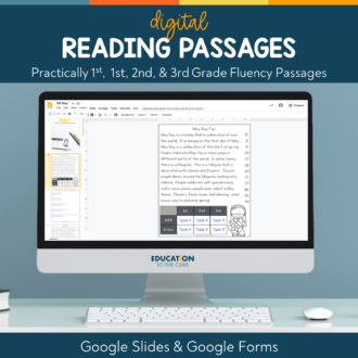 Digital Practically 1st, 1st, 2nd, and 3rd Grade Passages for Google Classroom™