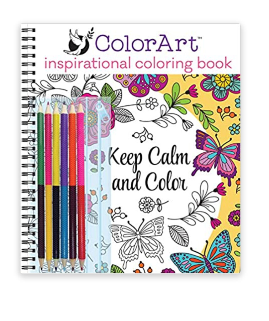 Unwind on the front porch with a nice cup of coffee or tea and spend some quiet time coloring.