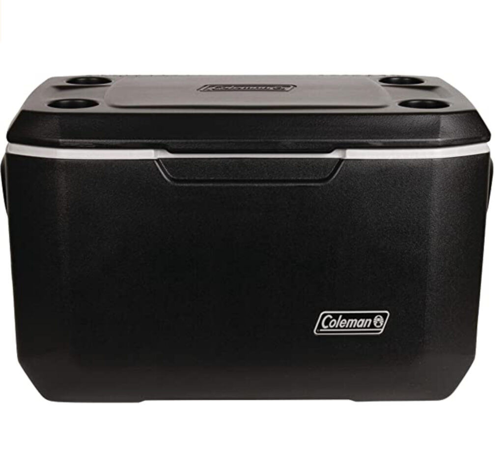 If you are taking any camping trips this summer, this cooler is fabulous.  It keeps ice for up to 5 days while out camping.  Keep your food and beverages cold while you enjoy the great outdoors!