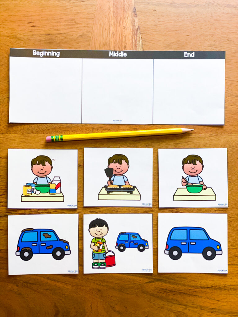 story sequencing independent student activity