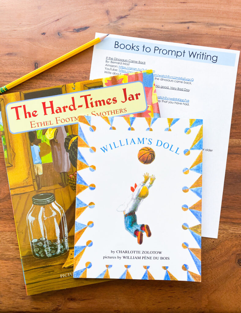 included in the lessons are book lists to prompt student writing