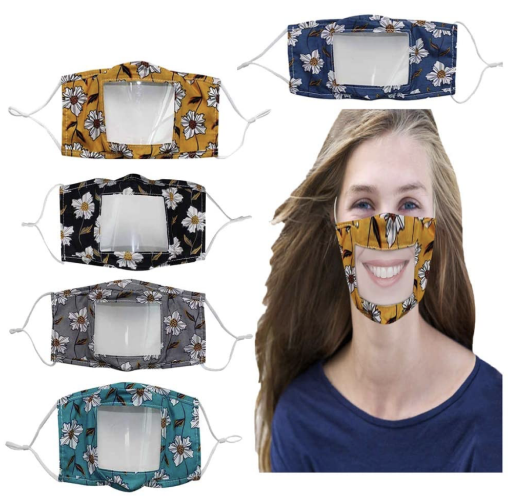 see through face masks to keep you healthy and allow students to see your mouth