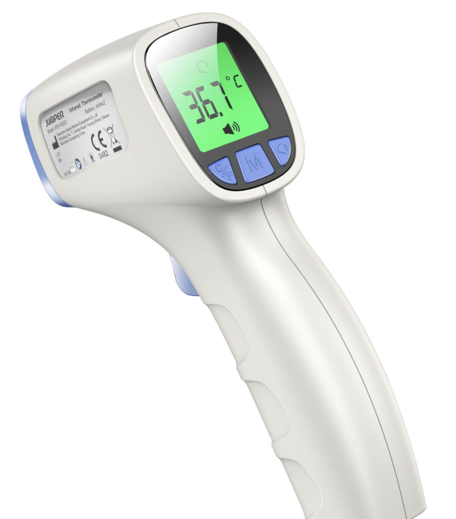 scanning thermometer to check temperatures when trying to stay healthy