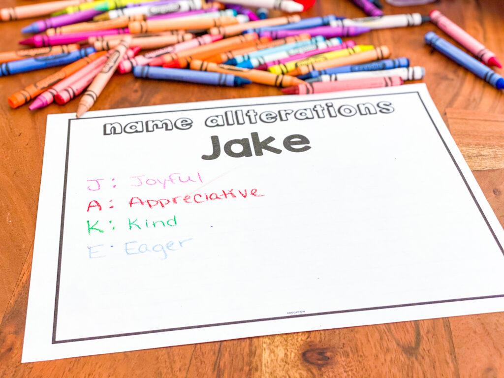 create a name acrostic poem