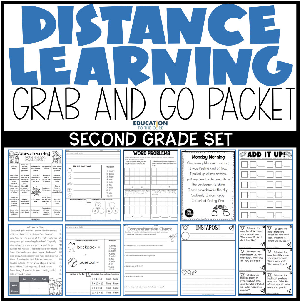 second grade grab and go packet resources