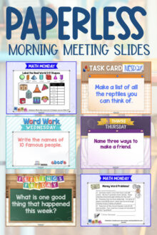 teaching assistants create morning meeting slides for class