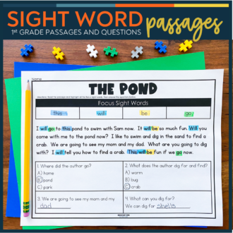 Sight Word Passages