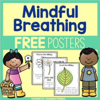 Mindfulness breathing posters freebie