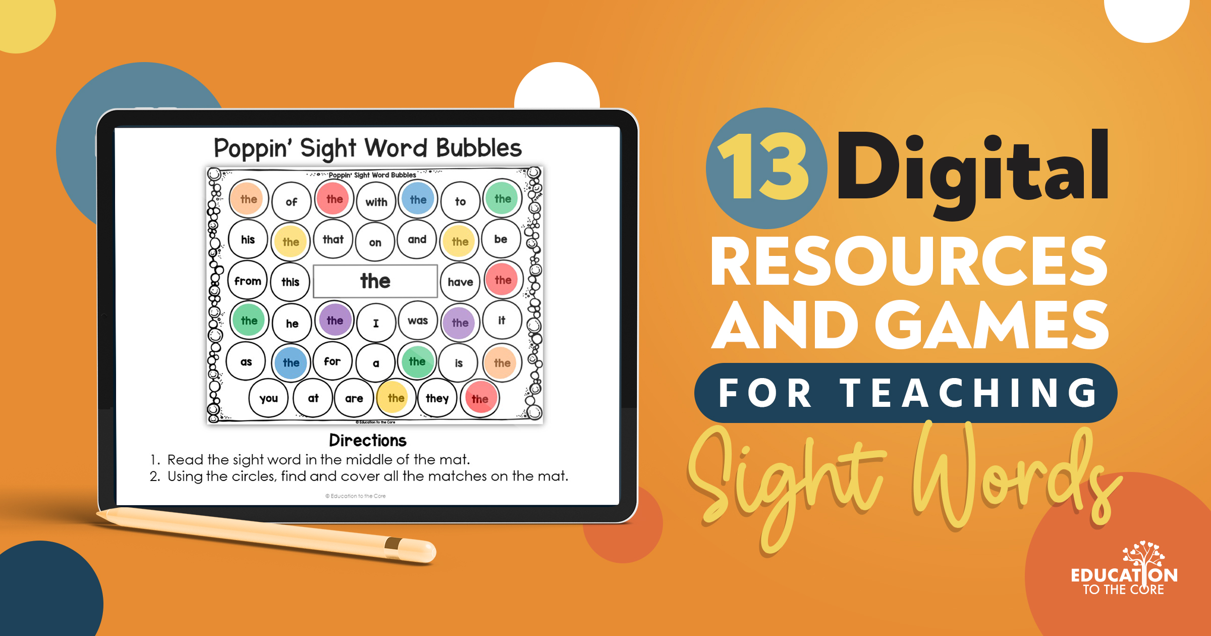 13 Digital Resources and Games for Sight Words