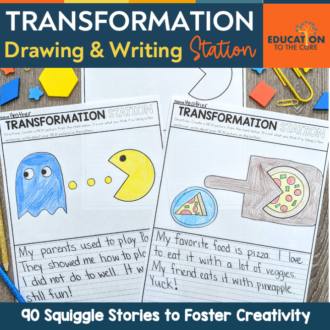 Transformation Drawing and Writing Station: 90 Squiggle Stories