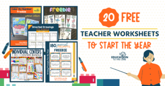 20 Free Teacher Worksheets to Start the Year