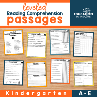 Leveled Reading Comprehension Passages Levels A-E | Kindergarten